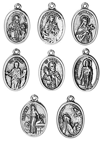 Catholic Saints Pray for Us Charm Pendants, Random Packed (30 Pieces) ()