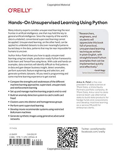 Hands-On Unsupervised Learning Using Python: How to Build Applied