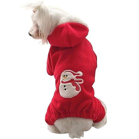 Mlec tech Ropa para Perros, Lindo Perro Trajes de Navidad Sudaderas Ropa para Mascotas