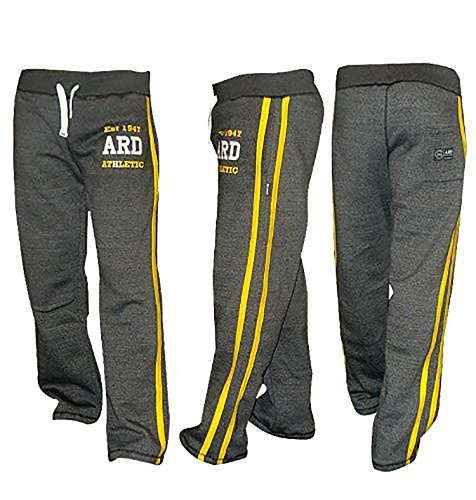 ARD-Champs Men's Fleece Jogger Pant Sweatpant Track Suit Bottom Jogging Exercise Fitness Boxing MMA Gym Sweat Cotton Fleece Trousers (Charcoal, Large) (Tracksuit Boxing)