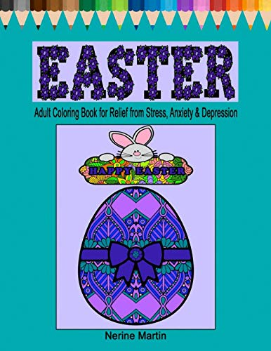 Easter Coloring Pages: Easter Adult Coloring Book for Relief from Stress, Anxiety and Depression]()