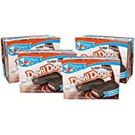 Drake's Fudge Dipped Devil Dogs, 4 Boxes, 32 Individually Wrapped Devils Food Cakes