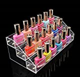 1 Set Delicate Popular Nails Polish Organizer Storage Makeup Travel Case Layers Holder Color Transparent 3 Tier Style #03