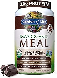 Garden of Life Meal Replacement - Organic Raw Plant Based Protein Powder, Chocolate, Vegan, Gluten-Free, 35.9o