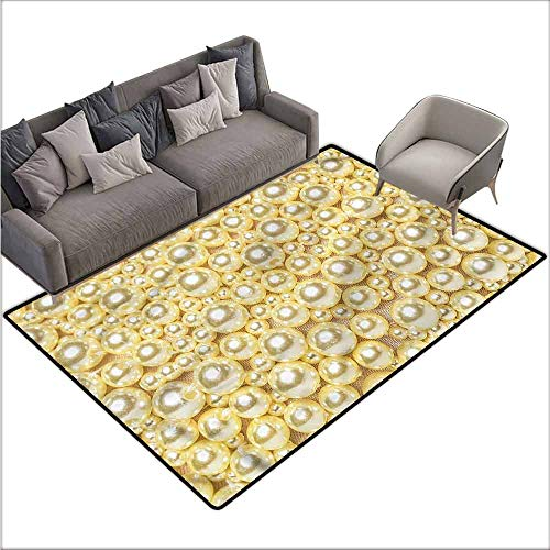 Print Floor Mats Bedroom Carpet Pearls,Different Sized Vivid Beads 48