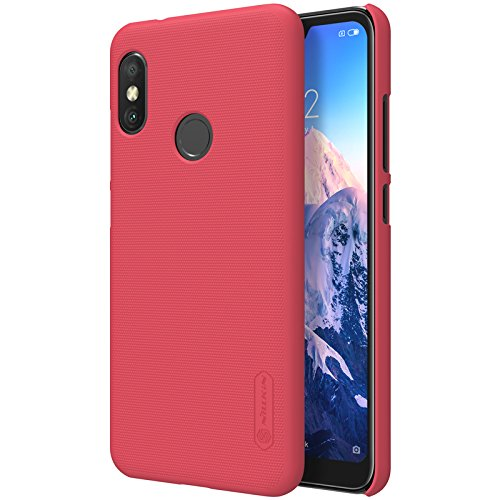 for xiaomi redmi 6 pro mi A2 Lite Case,Nillkin [with Kickstand] Frosted Shield Anti Fingerprints Hard PC Case Back Cover for xiaomi redmi 6 pro mi A2 Lite -Retail Package (red)
