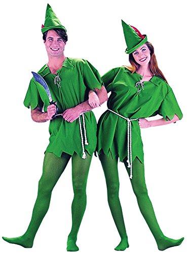 Peter Pan Costume - Unisex Teen/Adult Costume - XS (Teen Peter Pan Costumes)