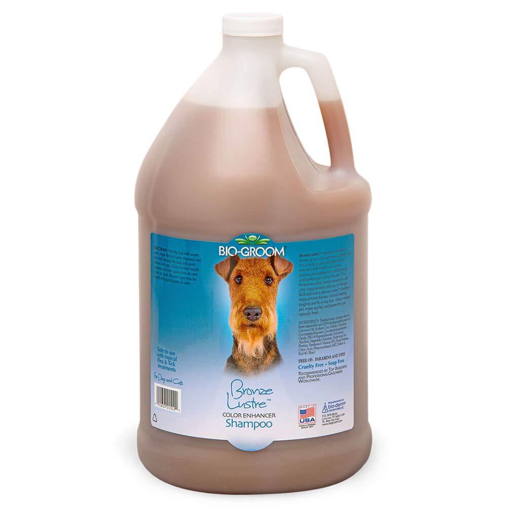Bio-Groom Bronze Lustre Enhancer Pet Shampoo, 1-Gallon