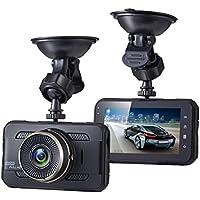 Sebikam 3.0 Full HD Car Dash Cam 170 Degree Wide Dashboard Camera with 3 Screen, G-Sensor, Parking Mode, Loop Recording, Night Mode and More