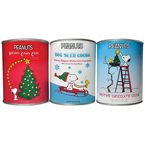 (Set/3) PEANUTS Christmas Cocoa - Great Flavors In 2.5 Ounce Metal Gift Cans