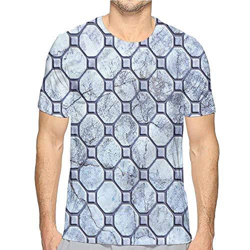 (bybyhome t Shirt Printer Marble,Retro Marble Mosaic Junior t Shirt S)