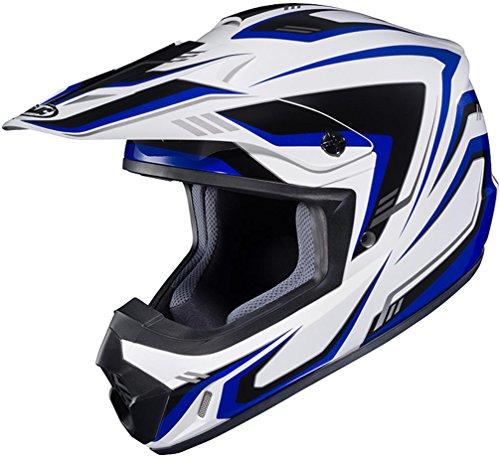 HJC CS-MX II Edge Off-Road Motorcycle Helmet White Blue X-Large - Edge Off Road