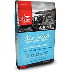 Orijen Dry Dog Food, Six Fish, Biologically Appropriate & Grain Free, 25 Pounds