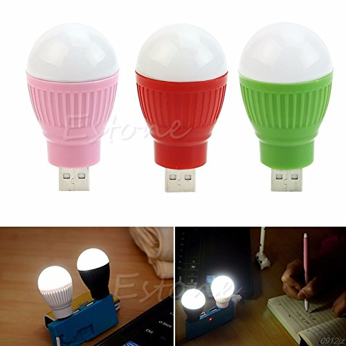 LALICORP 1PC Portable Mini 5W USB LED Light Lamp Bulb For Computer Laptop PC Desktop Reading Book Light C90A New Drop ship BRAND NEW by LALICORP