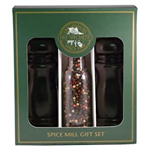 Chef Specialties 6 Inch Salem Pepper Mill and Salt Shaker Gift Set - Ebony
