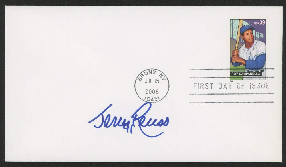 JERRY REUS SIGNED 2006 ROY CAMPANELLA BRONX NY STAMPED FIRST DAY OF ISSUE COVER