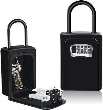 HUSAN Caja de seguridad para llaves con grillete para montar en la ...