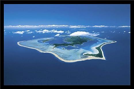 Amazon Com Studio B Bora Bora Tropical Island Aerial Photo