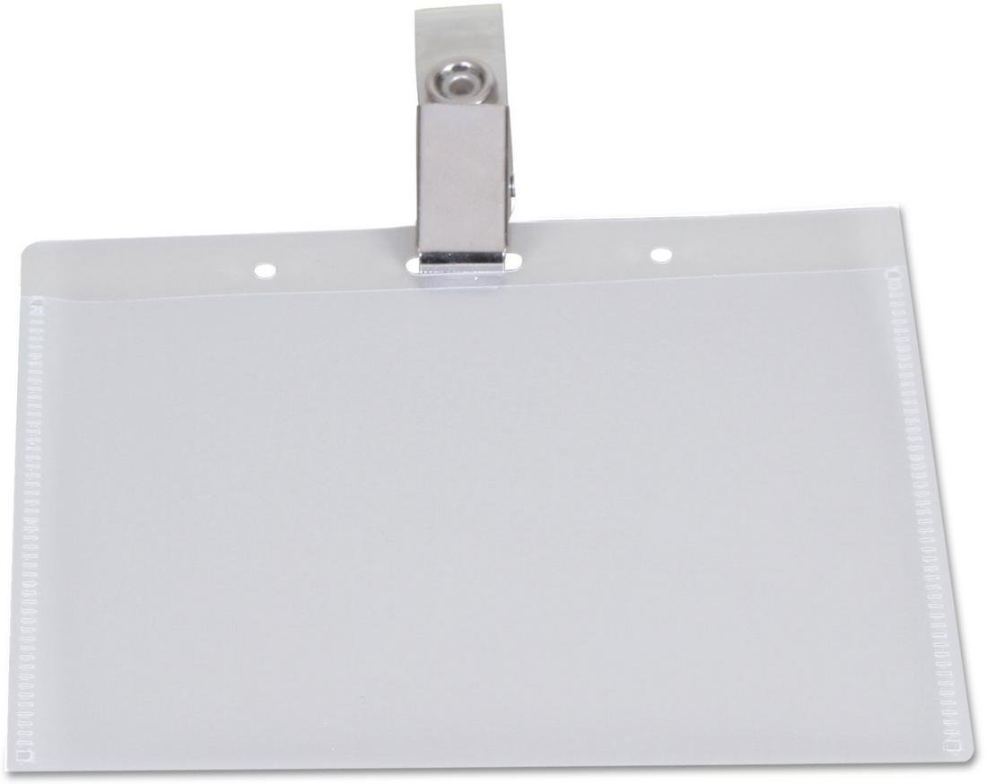 UNV56006 - Universal Clip-On Clear Badge Holders With Inserts