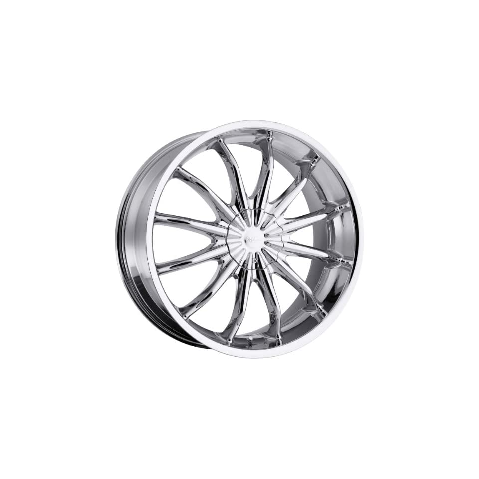 Milanni Baron 18 Chrome Wheel / Rim 5x110 & 5x115 with a 38mm Offset and a 74.1 Hub Bore. Partnumber 450 8968C38