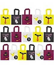 UTOPP 16 Packs Party Bags Treat Tote Bags, Gift Candy Bags for Harry Potter Party Decoration Non-Woven Party Gift Bags with Handles, Platform 9 And 3/4 King's Cross Station, Party Goodie Bags for Kids