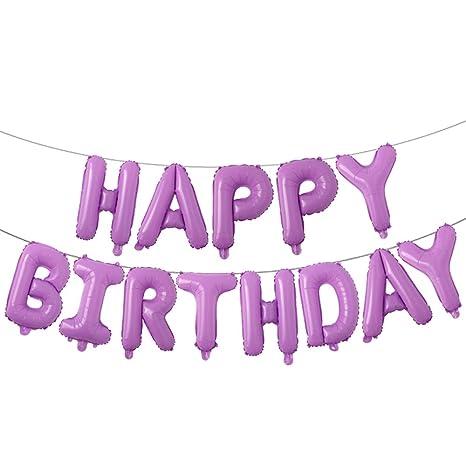 Amazon.com: Globos de feliz cumpleaños, globos de aluminio ...