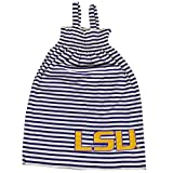 Glitter Gear Lsu Tigers Official NCAA Striped Sleeveless Smocked Dress W/Large Logo. Fanatic 3 T by