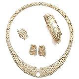 Moochi Gold Plated Turkish Ethiopian Pendant Necklace Jewelry Set for Women Africa Egyptian Fashion Bridal