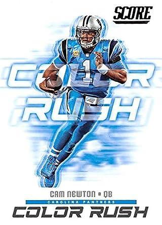 cheap for discount cfb07 383a0 Amazon.com: 2018 Score Color Rush #7 Cam Newton Carolina ...