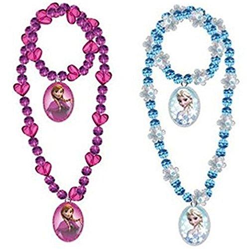 Disney Frozen Beaded Necklace Bracelet