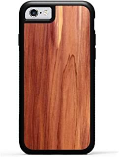 product image for iPhone 6 / 6s Eastern Red Cedar Wood Traveler Case by Carved, Unique Real Wooden Phone Cover (Rubber Bumper, Fits Apple iPhone 6 / 6s)