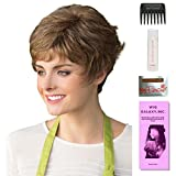 Alyssa by Amore, Wig Galaxy Hair Loss Booklet, 2oz Travel Size Wig Shampoo, Wig Cap, & Wide Tooth Comb (Bundle - 5 Items), Color Chosen: Marble Brown