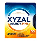 Xyzal Allergy 24 Hour - 55 Tablets, Pack of 5