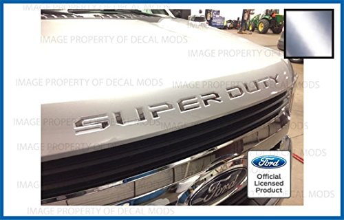2017-2019 Ford Super Duty Letter Inserts for Hood/Grille Chrome - CCHR F250 F350 F450 Decals Stickers ()