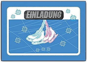 Großartig Einladungskarten Kindergeburtstag Schlittschuhlaufen Eislaufen Schlittschuh  Einladung   6 Stück