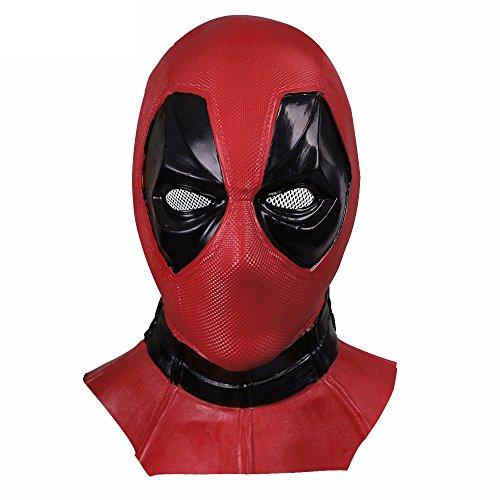 Dead Cosplay Pool Latex Mask Helmet Costume Props (Latex Deadpool Costume)