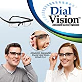 Dial Vision Glasses DialVision Adjustable Lens Eyeglasses for Vision Correction Instant 20/20 Adjustable Lenes As seen on TV for Nearsighted Near and Farsighted Far - Solution to Clear Vision
