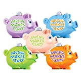SmileMakers Shaped Piggy Bank Stickers - 100 Per Pack