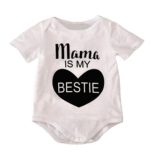 fa51a1da6a79 Amazon.com  Pollyhb Bady Boy Girl Romper Cotton Newborn Baby Boys Girls  Clothes Print Jumpsuit Bodysuit Outfits(0-18 Months)  Clothing