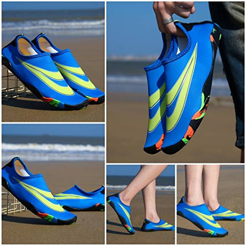 Women Socks Bigood Water Girls Outdoors Sports Aqua Shoes Blue Men Boy Lovers vq5O4wq