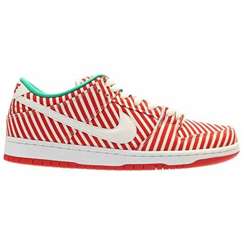 Nike Herren Dunk Low Premium Ankle-High Leder Fashion Sneaker Zuckerstangen-Herausforderung Rot / Weiß-stdm Grün