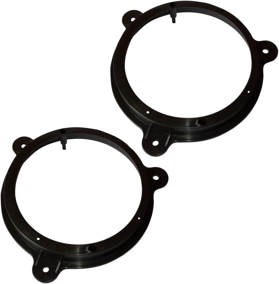 AERZETIX: 2x Adaptadores soportes de altavoces 165mm para puerta delantera de coche, vehiculos C11568