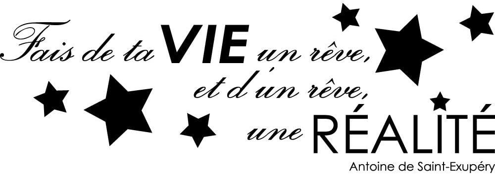Autocollant Stickers Citation Saint-exup/éry Ref T-MK1055