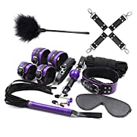 TissueDeep Purple Yoga Strap Kit 10pcs