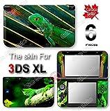 Cool Green Lizard SKIN VINYL STICKER DECAL COVER for Original Nintendo 3DS XL
