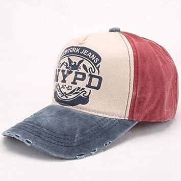 YanLong Gorra de béisbol para Visera NYPD para Exteriores, Lavada ...