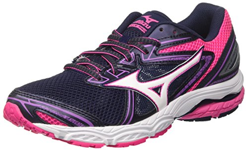 White Women's Running Shoes Prodigy Peacoat WOS Multicolor Wave Mizuno Pinkglo Pinkglo White Multicolore Peacoat wfq8TRn