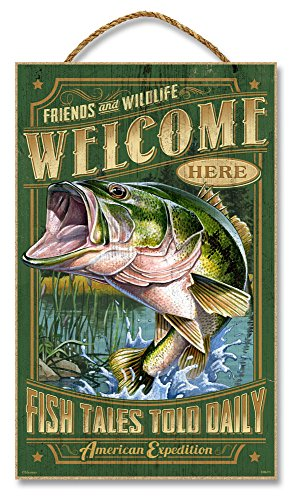 "UPC 659356047001, 10""x16"" Sign - Welcome Largemouth Bass"