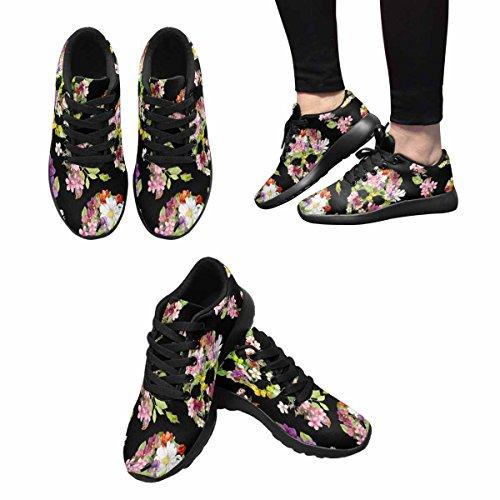 Interestprint Skulls Flowers Womens Jogging Running Sneaker Leggero Go Easy Walking Sport Sports Scarpe Da Corsa Multi 1