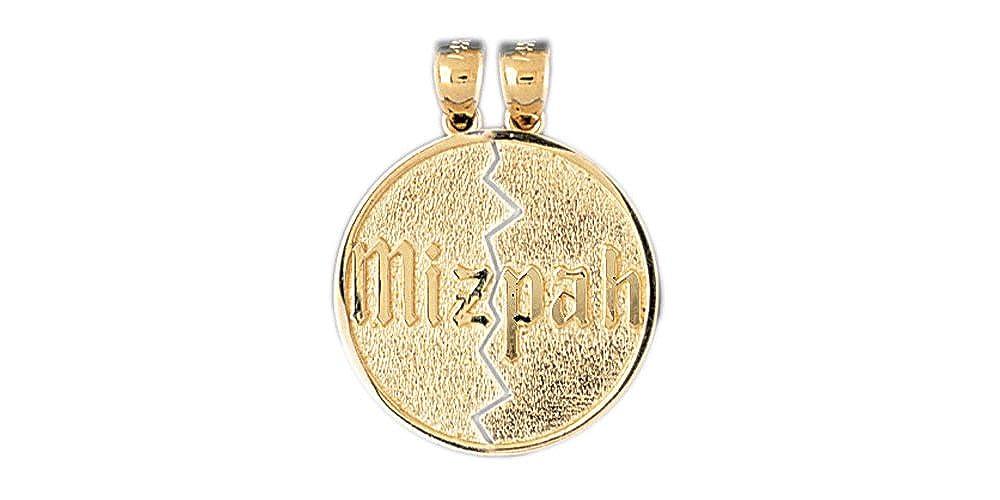 14k Yellow Gold Mizpah Pendant